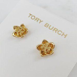 Tory Burch Gold Flower Earrings